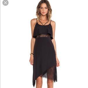 BCBG ASYMMETRIC HEM TANK DRESS IN BLACK Sz 4